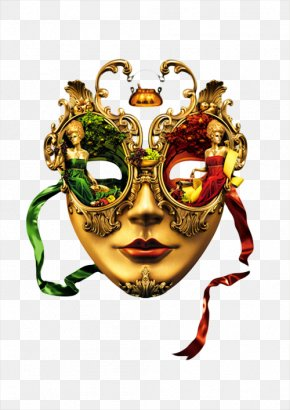 Pretty Woman's Mask Picture - Graphic Design Art Clip Art PNG
