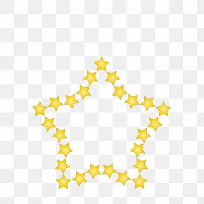 The Five Stars Surround The Five Star Metal PNG