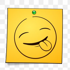 Tongue - Emoticon Smiley Wink Post-it Note PNG