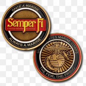 United States - United States Marine Corps Semper Fidelis Challenge Coin Military PNG