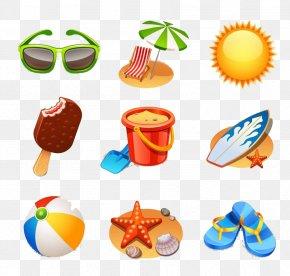 Cartoon Children's Toy Pattern - Summer Icon PNG