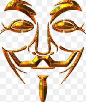 Anonymous - Guy Fawkes Mask Anonymous V Gunpowder Plot PNG