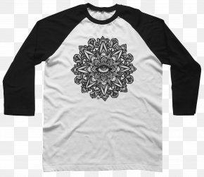 Wheel Of Dharma - Long-sleeved T-shirt Raglan Sleeve Hoodie PNG