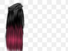 Black Long Hair - Long Hair Black Hair Hairstyle PNG