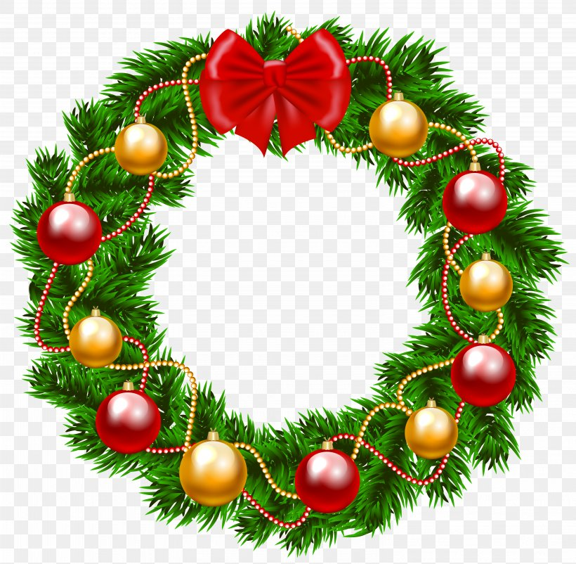 Garland Christmas Wreath Clip Art, PNG, 6129x5999px, Christmas, Blog, Christmas Decoration, Christmas Ornament, Christmas Tree Download Free