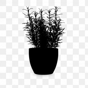 M Flowerpot Houseplant Product Design - Black & White PNG