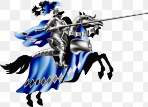 Vector Knight On Horseback - Knight Middle Ages Lance Tournament PNG