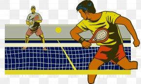 Retro Tennis Vector - Tennis Centre Padel Tennis Ball Racket PNG