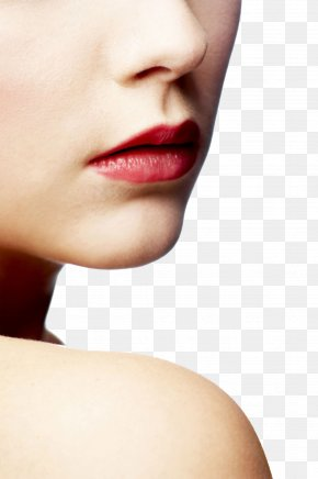 Close-up Of Woman With Red Lips - Lip Close-up Face Clip Art PNG