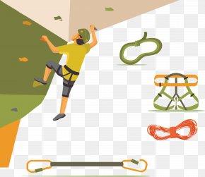 Indoor Rock Climbing Vector - Sport Rock Climbing Clip Art PNG