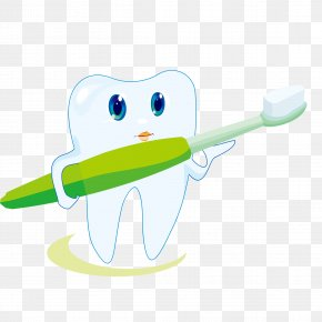 Cute Cartoon Toothbrush Tooth Vector - Toothbrush Toothpaste Icon PNG