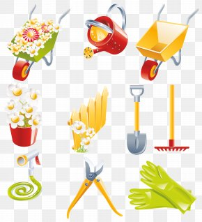 Spring Garden Collection Clipart - Garden Tool Gardening Watering Can PNG