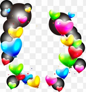 Floating Color Balloon Material - Balloon Heart Light Clip Art PNG