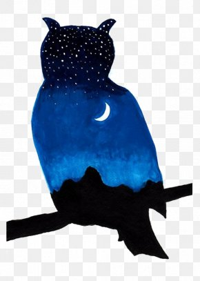 Owl - Owl Silhouette Watercolor Painting Clip Art PNG