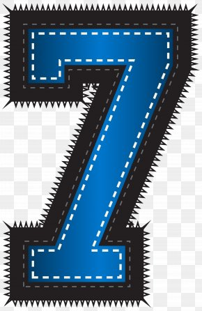 Blue Sport Style Number Seven Clip Art Image - Graphics Clip Art PNG