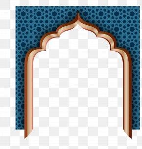 Blue Retro Wall Door - Eid Al-Fitr Eid Mubarak Ramadan Eid Al-Adha PNG