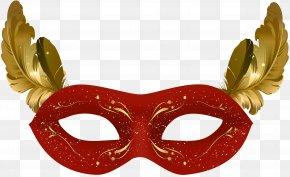 Red Carnival Mask Clip Art - Mask Carnival Clip Art PNG