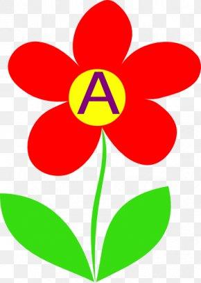 Letter Alphabet Flower Clip Art - Plant Stem Flower Tulip Clip Art PNG