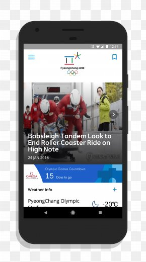 Smartphone - PyeongChang 2018 Olympic Winter Games Smartphone Pyeongchang County Olympic Games Feature Phone PNG