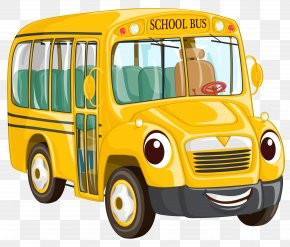 School Bus Clipart Image - School Bus Cartoon Clip Art PNG