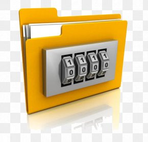 A Folder With A Password Lock - Password Directory Microsoft Windows Encryption Stock Photography PNG