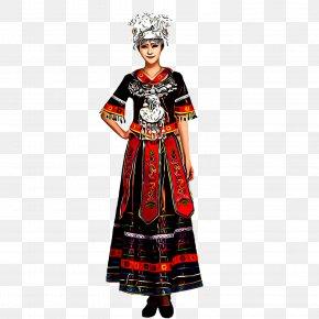 Folk Dance Dress Painting - Folk Dance Painting PNG