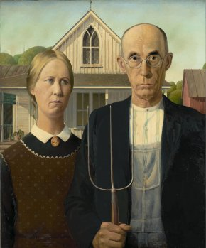 American Gothic Cliparts - Grant Wood Art Institute Of Chicago American Gothic House Royal Academy Of Arts PNG