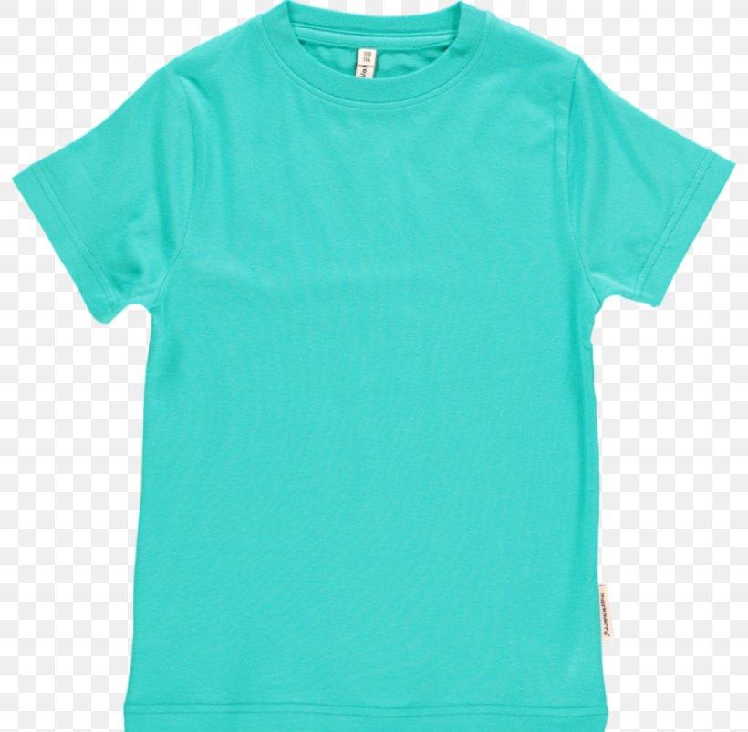 T-shirt Sleeve Clothing Crew Neck, PNG, 800x803px, Tshirt, Active Shirt, Aqua, Azure, Blue Download Free