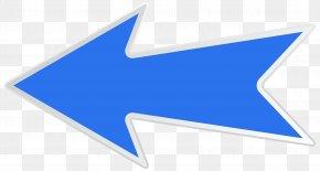 Blue Left Arrow Clip Art Image - Arrow Clip Art PNG