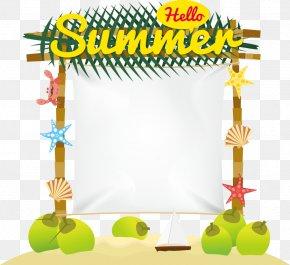 Hello Summer Theme Vector - Summer Euclidean Vector PNG
