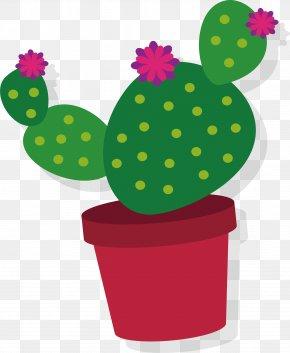 Lovely Cactus - Cactaceae Euclidean Vector Clip Art PNG