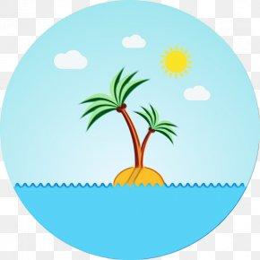 Palm Tree Landscape - Cartoon Palm Tree PNG