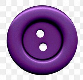Clothes Button - Circle Purple Font Smile PNG