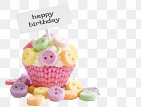 Color Buttons Birthday Cake - Cupcake Birthday Cake Happy Birthday To You Wish PNG