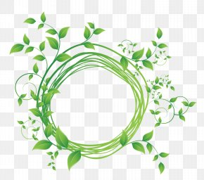 Green Leaf Round Frame Vector Diagram - Royalty-free Stock Photography PNG