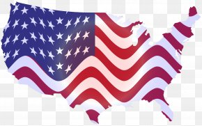 United States - Flag Of The United States Map Clip Art PNG