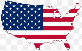 American Flag Page Border - Flag Of The United States Map Clip Art PNG
