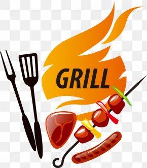Vector Cartoon Barbecue - Barbecue Chicken Shish Kebab PNG