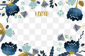 Vector Hand-painted Watercolor Flowers Border - Watercolor Painting Flower PNG