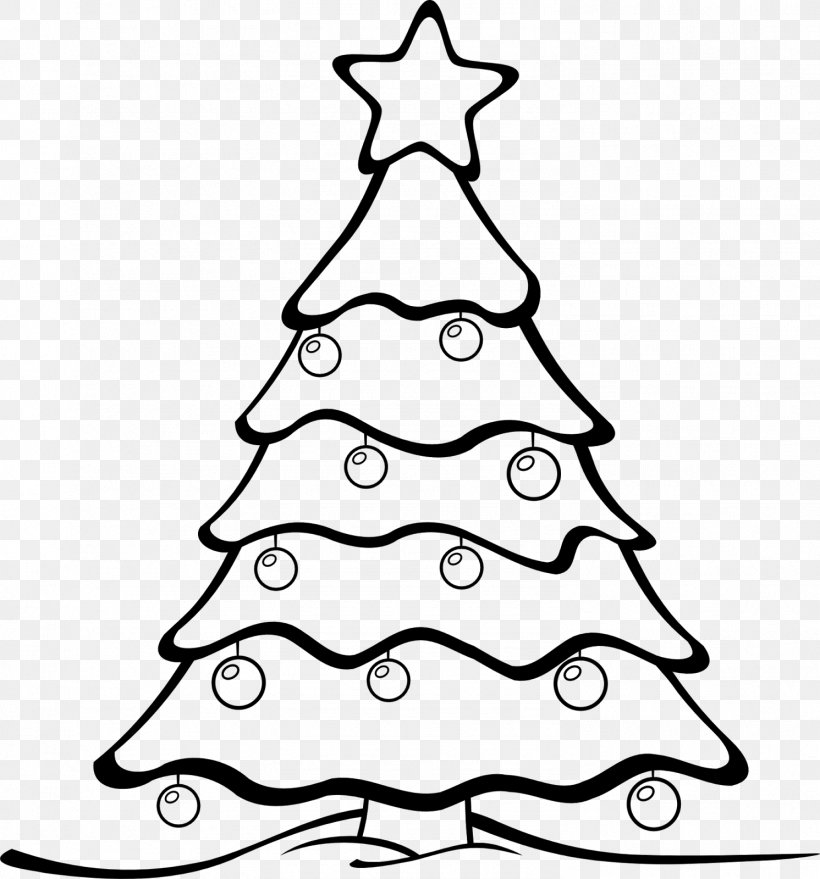 Christmas Tree White Clip Art, PNG