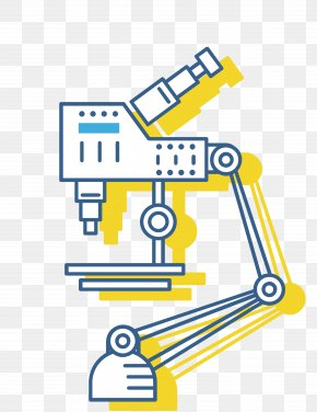 Hand-painted Microscope - Microscope Graphic Design PNG