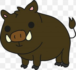 Cartoon Wild Boar - Wild Boar Cartoon Clip Art PNG