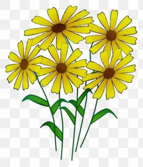 Herbaceous Plant Jerusalem Artichoke - Bouquet Of Flowers Drawing PNG