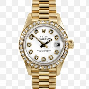 Watch Bezel - Watch Rolex Colored Gold Bulova Nacre PNG