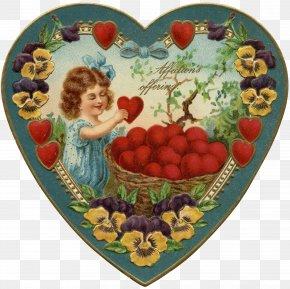 Valentine's Day - Victorian Era Valentine's Day Heart Cupid Clip Art PNG