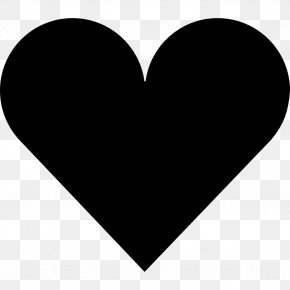Heart Free Image - Black And White Heart Font PNG
