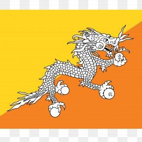 Flag - Flag Of Bhutan National Flag Royalty-free PNG