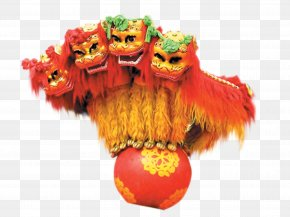 Chinese New Year Lion Dance - Lion Dance Performance Dragon Dance Chinese New Year PNG