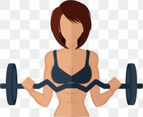 Barbell Woman - Physical Exercise Physical Fitness Weight Training Weight Loss Barbell PNG