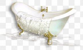 Painted White Bathtub - Bathtub PNG